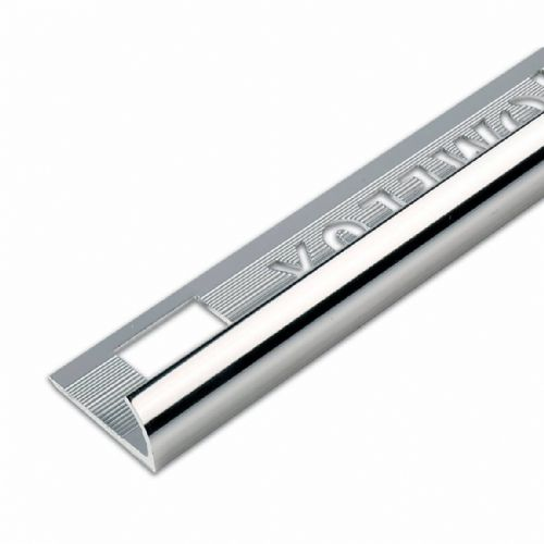 TILE TRIM CHROME ROUND EDGE 10MM x 2.4MT
